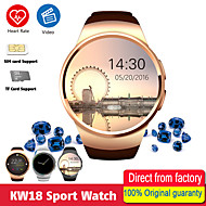 povoljno -kw18 pametni satovi ljudi podržavaju sim tf karticu bluetooth poziv otkucaja srca pedometar sportski modovi smartwatch za Android ios