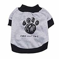 ieftine -Câine Tricou Hanorace cu Glugă Iarnă Îmbrăcăminte Câini Trifoi Gri Costume XS S M L