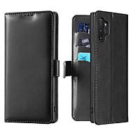 povoljno -Θήκη Za Samsung Galaxy Galaxy Note 10 Plus Utor za kartice / sa stalkom / Zaokret Korice Jednobojni PU koža / TPU