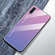 Кейс для Назначение SSamsung Galaxy Galaxy A50 (2019) / Samsung Galaxy A70 (2019) / Galaxy A60 Ультратонкий Кейс на заднюю панель Градиент цвета Закаленное стекло