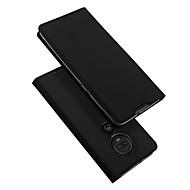 povoljno -Θήκη Za Motorola Moto G7 Plus Utor za kartice / sa stalkom / Zaokret Korice Jednobojni PU koža / TPU