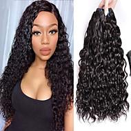povoljno -3 paketa Peruanska kosa Water Wave Virgin kosa Netretirana  ljudske kose Wig Accessories Ljudske kose plete Bundle kose 8-28 inch Prirodna boja Isprepliće ljudske kose Odor Free Smooth Sexy Lady