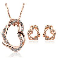 povoljno -Žene Kubični Zirconia Svadbeni nakit Setovi Geometrijski Srce Stilski Pozlaćeni Naušnice Jewelry Obala / Zlato Za Dnevno Praznik 1set