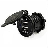 povoljno -5v 3.1a dual usb port vodootporni auto punjač brzo punjenje utičnica za ipad iphone auto motocikl čamac mobilni telefoni led