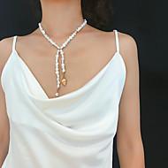 ieftine -Pentru femei Lănțișor La modă Perle Crom Auriu 40 cm Coliere Bijuterii 1 buc Pentru Cadou Zilnic Carnaval Concediu Festival
