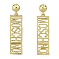 זול -בגדי ריקוד נשים עגילי טיפה אותיות רומנטי אלגנטית עגילים תכשיטים זהב עבור Party קרנבל רחוב עבודה זוג 1