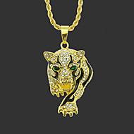 رخيصةأون -رجالي قلائد الحلي قلادة طويلة كلاسيكي Tiger تصميم فريد موضة مطلية بالذهب كروم ذهبي فضي 75 cm قلادة مجوهرات 1PC من أجل شارع