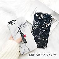 voordelige -hoesje voor Apple iPhone XS / iPhone XR / iPhone XS max / 7/8/6/7 plus / 8 plus / 6s / 6s plus / 6 plus ringhouder / mat / patroon achterkant marmer acryl