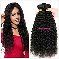 povoljno -3 paketa Brazilska kosa Kinky Curly Virgin kosa 100% Remy kose tkanja Bundle Wig Accessories Headpiece Ljudske kose plete 8-28 inch Prirodna boja Isprepliće ljudske kose Odor Free Sexy Lady Najbolja