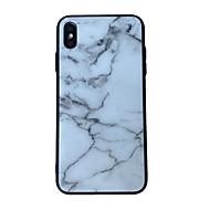 voordelige -hoesje Voor Apple iPhone XS / iPhone XR / iPhone XS Max Patroon Achterkant Marmer Gehard glas