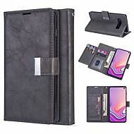 cheap -Leather Magnetic Flip Wallet Phone Case for Samsung Galaxy S10 Plus S10e S10 S9 Plus S9 S8 Plus S8 S7 Edge S7 Card Slot Holder Stand Case for Galaxy Note 10 Plus Note 10 Note 9 Note 8 Cover