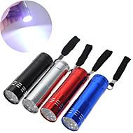 LED-Zaklampen Klein formaat LED 9 emitters Noodgeval Klein formaat Zak Kamperen / wandelen / grotten verkennen Vissen Reizen 1pc / Aluminiumlegering