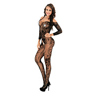 Dames Bodysuits Nachtkleding - Effen / Bloemen, Kant / Netstof