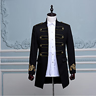 Prince Aristocrat Retro Vintage Medieval Coat Masquerade Men's Costume White / Black / Blue Vintage Cosplay Party Long Sleeve