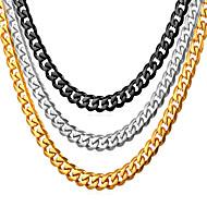 ieftine -Bărbați Lănțișoare Lănțișor Simplu Modă Oțel titan Negru Auriu Argintiu 55 cm Coliere Bijuterii 1 buc Pentru Cadou Zilnic Absolvire Școală