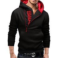 Men's Active Long Sleeve Hoodie - Color Block Hooded Black M / Fall / Winter