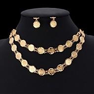 ieftine -Pentru femei Seturi de bijuterii femei Elegant extravagant Placat cu platină Placat Auriu cercei Bijuterii Auriu / Argintiu Pentru Nuntă Petrecere Zilnic Casual Sport / Cercei / Coliere / Brățară