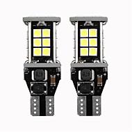 2 יחידות t15 w16w 921 912 סופר מבריק 3030 24 smd led canbus ללא שגיאה גיבוי רכב אורות מילואים מנורת זנב