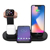 economico -Caricabatterie wireless 3 in 1 apple airpods caricabatterie apple watch stand veloce multiplo dispositivo di ricarica wireless compatibile con iphone 11 pro max / x / xr / xs max / 8/7/6 / samsung / h