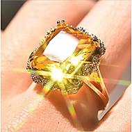 رخيصةأون -نسائي خاتم 1PC ذهبي مطلية بالذهب Geometric Shape أنيق مناسب للحفلات مناسب للبس اليومي مجوهرات كلاسيكي وردة كوول