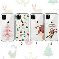 voordelige -hoesje Voor Apple iPhone 11 / iPhone 11 Pro / iPhone 11 Pro Max Transparant / Patroon Achterkant Kerstmis TPU