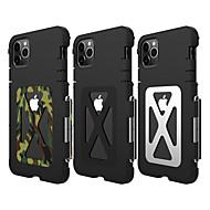 voordelige -hoesje Voor Apple iPhone 11 / iPhone 11 Pro / iPhone 11 Pro Max Schokbestendig Achterkant Effen Roestvast staal
