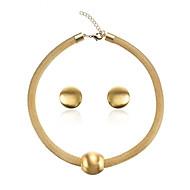 رخيصةأون -نسائي اطقم ذهب و مجوهرات جديلي عمودي أنيق الأقراط مجوهرات ذهبي من أجل مناسب للحفلات مناسب للبس اليومي 1SET
