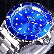 ieftine -WINNER Bărbați ceas mecanic Mecanism automat Stil Oficial Stl Oțel inoxidabil Argint 30 m Rezistent la Apă Calendar Iluminat Analog Lux Modă - Negru Negru / Roșu Verde