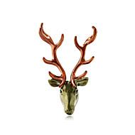 povoljno -Žene Broševi Geometrijski Jelen Stilski Broš Jewelry Zlatan Svjetloplav Svijetlo zelena Za Božić Festival