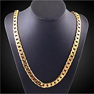 رخيصةأون -رجالي نسائي عقد هندسي عمودي موضة كروم ذهبي 50 cm قلادة مجوهرات 1PC من أجل مناسب للبس اليومي عمل