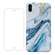 voordelige -hoesje met schermbeschermer voor Apple iPhone 11 / iPhone 11 pro / iPhone 11 pro max stofdicht / mat achterkant marmer TPU voor iPhone 7/7 p / 8/8 p / 6/6 plus / x / xs / xr / xs max