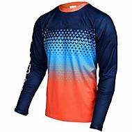 economico -21Grams Per uomo Manica lunga Maglia da ciclismo Downhill Jersey maglia per dirt bike Inverno Elastene Poliestere Blu + arancio Blu + giallo Bicicletta Maglietta / Maglia Top Ciclismo da montagna