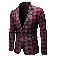 Heren Blazer, Geometrisch Overhemdkraag Polyester blauw / Rood