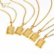ieftine -Bărbați Pentru femei Coliere cu Pandativ Lănțișor X Scrisă Simplu Modă Bijuterii inițială Articole de ceramică Auriu Argintiu 55 cm Coliere Bijuterii 1 buc Pentru Cadou Zilnic Absolvire Festival
