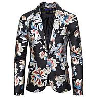 זול -בגדי ריקוד גברים דש קלאסי בלייזר לבן / שחור / כחול נייבי US32 / UK32 / EU40 / US36 / UK36 / EU44 / US38 / UK38 / EU46