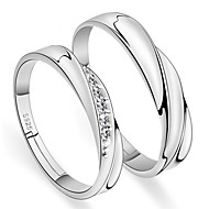 Ring Silver Alloy 2pcs Adjustable / Couple's / Daily