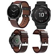 voordelige -Horlogeband voor Fenix 5s / Fenix6s / Fenix6s Pro Garmin Leren lus Echt leer Polsband