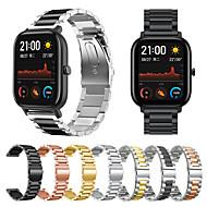 voordelige -Horlogeband voor Amazfit GTR 42 mm / Amazfit Bip Lite / Amazfit GTS Amazfit Zakelijke band Roestvrij staal Polsband