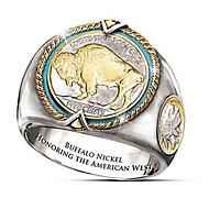 رخيصةأون -رجالي خاتم 1PC ذهبي نحاس Geometric Shape موضة مناسب للبس اليومي مناسب للعطلات مجوهرات هندسي حيوان كوول