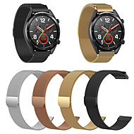 voordelige -Horlogeband voor Huawei Watch GT 2 Huawei Milanese lus Roestvrij staal Polsband