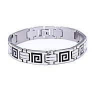 voordelige -Heren Vintage Armbanden Oorbellen / armband Retro Lucky Luxe Klassiek Vintage modieus Modieus Titanium Staal Armband sieraden Zilver Voor Lahja Dagelijks Feestdagen Club Festival