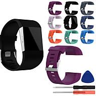 voordelige -horlogeband voor fitbit overslag fitbit klassieke siliconen polsband met gesp