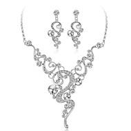 povoljno -Žene Kristal Svadbeni nakit Setovi Cvijet Moda Naušnice Jewelry Obala Za Party Praznik 1set