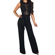 Femme Noir Vin Bleu Roi Combinaison-pantalon, Couleur Pleine S M L