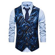 זול -בגדי ריקוד גברים וסט גיאומטרי תלתן / כסף / כחול בהיר US32 / UK32 / EU40 / US36 / UK36 / EU44 / US38 / UK38 / EU46
