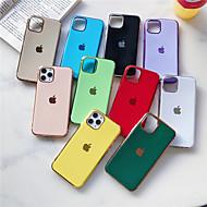voordelige -hoesje Voor Apple iPhone 11 / iPhone 11 Pro / iPhone 11 Pro Max Beplating Achterkant Effen TPU