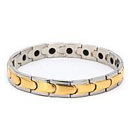 voordelige -Heren Vintage Armbanden Oorbellen / armband Klassiek Lucky Luxe Klassiek Vintage modieus Modieus Titanium Staal Armband sieraden Goud Voor Dagelijks Straat Feestdagen Festival