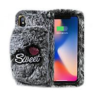 voordelige -hoesje Voor Apple iPhone 11 / iPhone 11 Pro / iPhone 11 Pro Max met standaard / Ringhouder / DHZ Achterkant Effen / Pluche tekstiili