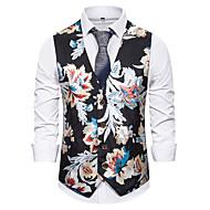 זול -בגדי ריקוד גברים וסט פרחוני לבן / שחור / כחול נייבי US32 / UK32 / EU40 / US36 / UK36 / EU44 / US38 / UK38 / EU46