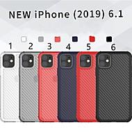 voordelige -hoesje Voor Apple iPhone 11 / iPhone 11 Pro / iPhone 11 Pro Max Schokbestendig Achterkant Effen TPU